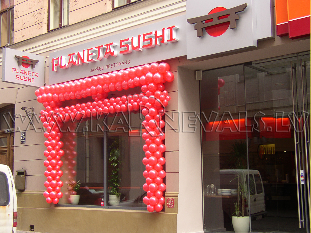 Planeta sushi grand opening balloon decoration outdoor